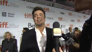 "TIFF Red Carpet: Actor Benicio Del Toro from the film ""Escobar: Paradise Lost"""